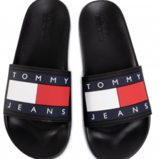 tommy-jeans-flag-pool-slide-negre-5