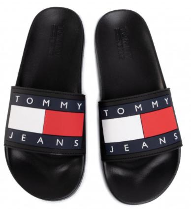 tommy-jeans-flag-pool-slide-negre-5